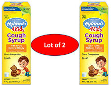 Hyland's 4 Kids Cough for Chest Congestion Syrup with 100% Natural Honey 4Kids