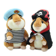 Lovely Talking Sound Record Electronic Navy Pirate Hamster Plush Toy Kids Gift