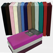 FITTED SHEETS PERCALE NON IRON SINGLE DOUBLE KING SUPER KING