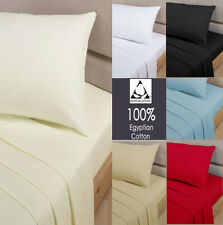 Luxury 100% Egyptian Cotton Fitted Sheets 200 Thread Count Single Double King SK