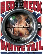 Red Neck Whitetail Hunter White Short Sleeve T-Shirt Any Size ~Funny~