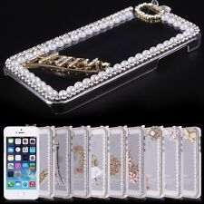 Bling Crystal Diamond Clear Transparent Hard PC Case Cover For iphone 5 5G 5S