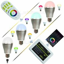 WiFi 2.4G RF Wireless Remote Control Phone Mi.Light 9W 6W E27 RGBW LED Bulb Lamp
