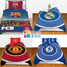 FOOTBALL SOCCER CLUB TEAM FC DUVET SET BED COVER BEDDING QUILT PILLOW OFFICIAL