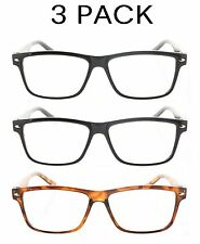 6 Pack Clear Wayfarer Reading Glasses (Uneven Mix of Black & Tortoise) 1.00-4.00