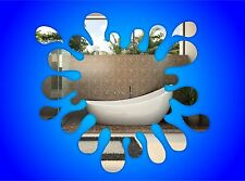 Splash Bathroom Decorative Mirror Bathroom Round Frameless Shatterproof Acrylic