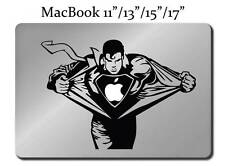 SUPERMAN Decal LAPTOP / MACBOOK Mac Pro Air Tattoo Sticker ALL SIZES Apple M19