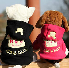 Dog Clothes Cartoon Pet Clothing Hoodie Sweater Puppy Coat Cat Apparel Costume
