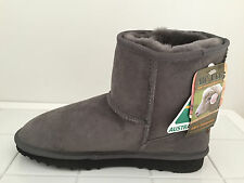 Australian Genuine Sheepskin Mini UGG Boots Grey Colour Australian Made