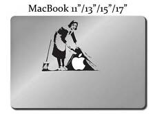 BANKSY MAID Cleaning Lady Decal LAPTOP / MACBOOK Mac Pro Air Sticker Apple M27