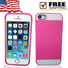New Rubber Frame and TPU Hard Back Colorful Case Cover For iPhone Apple 5 5s
