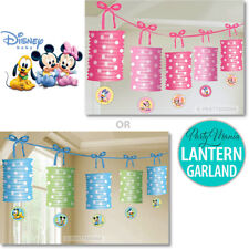 MICKEY MOUSE OR MINNIE MOUSE 1ST BIRTHDAY PARTY SUPPLIES LANTERN GARLAND