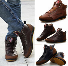 Mens Fashion Casual Sneaker Lace up Shoes Fall&Winter Ankle Boots Flats Shoes L1
