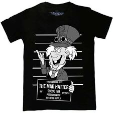 Twisted Steampunk Disney Mad Hatter Tee Shirt Punk Gothic Tattoo Alternative Top