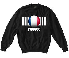 Womens France Flag Crew Neck Sweatshirt On SG Ladies Sweatjacket-8 Colours
