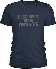 I Eat What Your Food Eats (Grey) Mens Combed Cotton T-Shirt