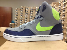 Mens Nike Court Force Classic Sneakers New,  Gray Navy Blue 537328-034 one