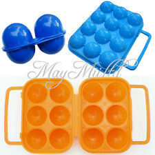 Outdoor Folding Plastic Carry 2/6/12 Eggs Box Case Outdoor Storage Container BQ