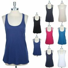Girl's Basic Sleeveless Scoop Neck Tank Top Chest Pocket Casual Cotton S M L