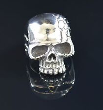 Men's Skull Ring Heavy Biker size 10 and 12 Goth silver Free USA shipping