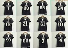 EXO Women Girls Fan Support T shirt Kpop Member Name Black Sexy Dress