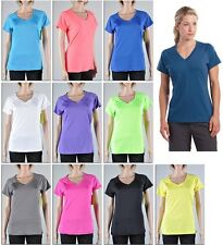 Women's Sport T-Shirt Tee Athletic V Neck Quick Dry Top Gym Yoga Dance Running
