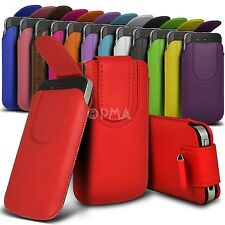 PU Leather Button Pull Tab Case Pouch and Strap Fits Various LG  Mobile Phones