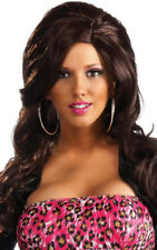LICENSED ADULT WOMENS JERSEY SHORE LONG BLACK NICOLE SNOOKI WIG
