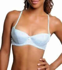 Aqua Blue Lightly Padded Bra by Carrie Amber Intimates New With Tags