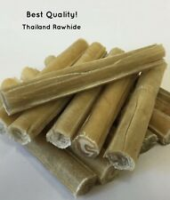 TOP QUALITY 5 INCH RAWHIDE CIGAR DOG CHEWS - BULK PACKS - SUPER FAST DELIVERY