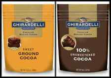 GHIRARDELLI BAKING UNSWEETENED & SWEET GROUND COCOA  Pick one