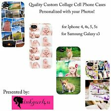 Premium Custom iphone Samsung Collage Personalized Photo Picture Hard Case Cover