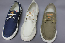 Tommy Bahama Mens Boat Shoes Sneakers Canvas