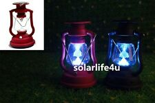 1PC Solar power RED/ BLACK Camping Outdoor 7LED Hand charger Antique Light New