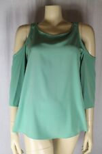 Topshop Ladies Green Cut Out Top Sizes 6 8 10 12 14 16