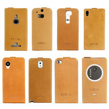 Ezreal Natural Handmade Genuine Leather Filp Case Cover For Phones & Tablets