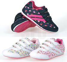 GIRLS KIDS SPORTS TRAINERS PUMPS VELCRO TRAINERS INFANT SHOES SIZE 6 - 12