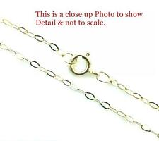 """9ct Gold Fine  Lightweight Trace Chain Necklace 16"""" 18"""" 20"""" & Gift Box"""