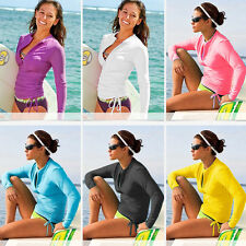 Women Scuba Snorkeling Wetsuit Rash Guard Surfing Surf Swimwear Clothing 6 Color