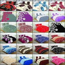 Duvet Cover 4Pcs Complete Bedding Quilt Set With Pillow Case And Valance Sheet