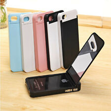 Hybrid Stand Case Cover for iPhone 4 4S with Mirror + Credit Card Holder