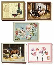 Creative Tops TV Dinner Laptop Lap Tray Laptray Sweet Peas Horse Dog Rose Wine