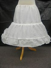 Girls White 2-Hoop Petticoat/ Crinoline/ Underskirt: Small & Medium