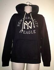 NWT AMERICAN EAGLE OUTFITTERS MENS APPLIQUE NYC POP OVER HOODIE NEW AEO HOODED