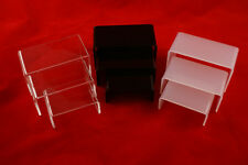 ACRYLIC 3 STEPPED PLINTHS STANDS SMALL - COLOUR CHOICE (A921)
