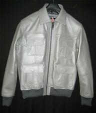Mens Leather Bomber Jacket Style MLJ0055B in 7 colors