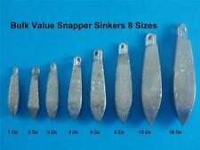 SNAPPER SINKERS 1,2,3,4,6,8,12,16 Oz BULK VALE SINKER TACKLE PROFESSIONAL MADE
