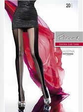 Fiore FAUSTINA 20D Two Tone High Contrast Patterned Sexy Tights Size S M L XL