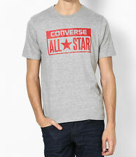 Converse Mens Grey Printed Crew Neck Casual T Shirt RRP £20
