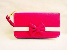 New 3D Cute Bowknot BOW girl Wristlet LEATHER WALLET POUCH PHONE CASE COVER 17